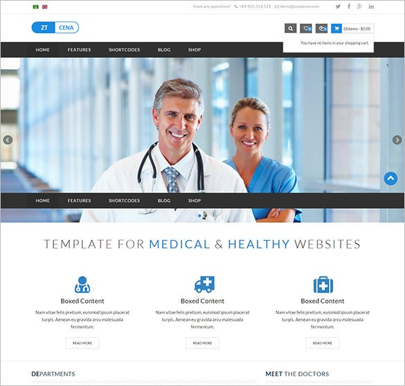 medical health joomla virtuemart template1