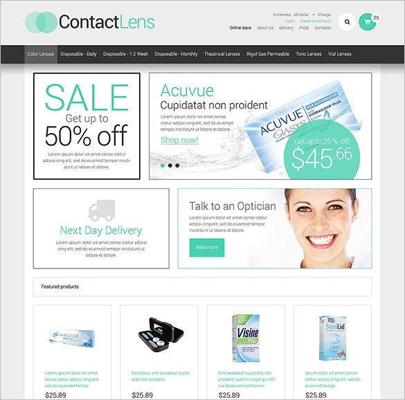 optometrist medical virtuemart template