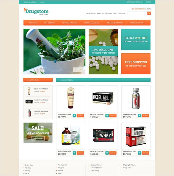 medical drug store virtuemart template