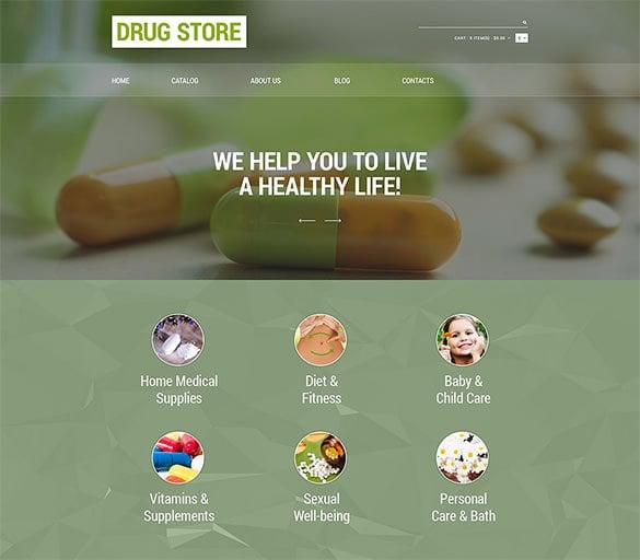 drug store responsive virtuemart template
