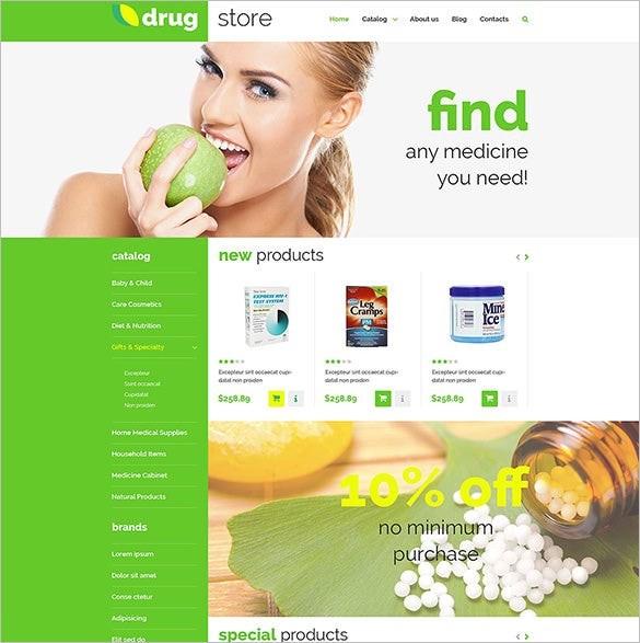 drugstore medical virtuemart template