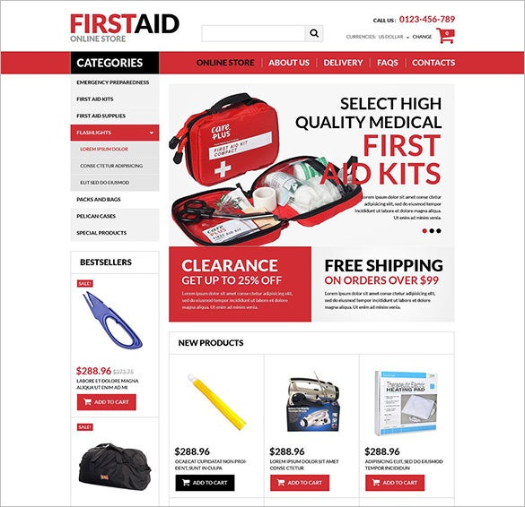 first aid store medical virtuemart template