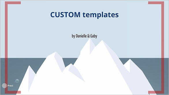 cool custom prezi template free download