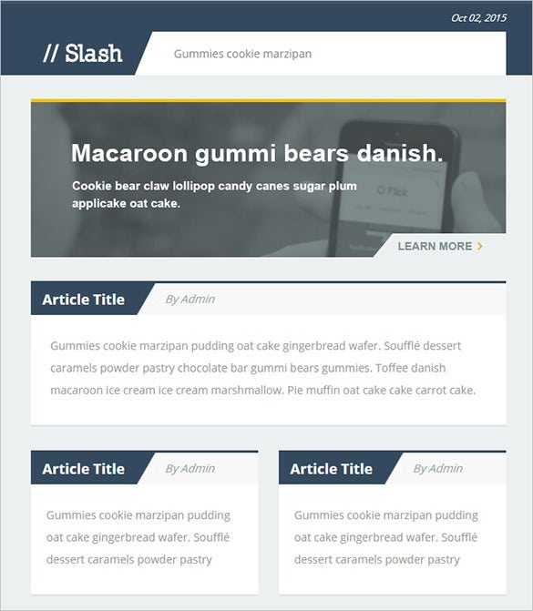 responsive write e mail psd template