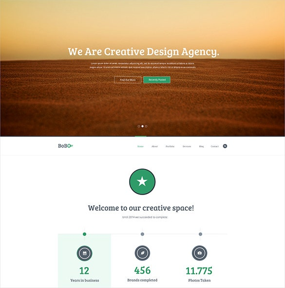 one page writer psd template