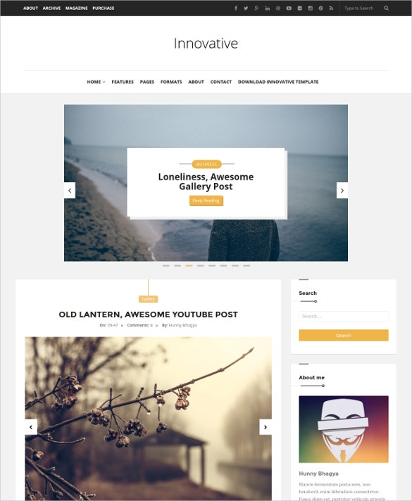 Amazing Creative Blogger Template