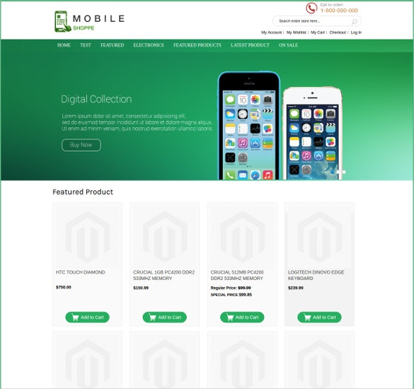 Creative Mobile Store Magento Theme