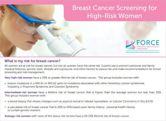 12  Breast Cancer Brochure Templates
