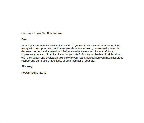 Christmas Thank You Note   Free Word Excel  Format