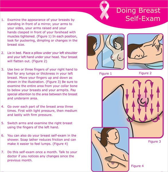 breast cancer two fold brochure template