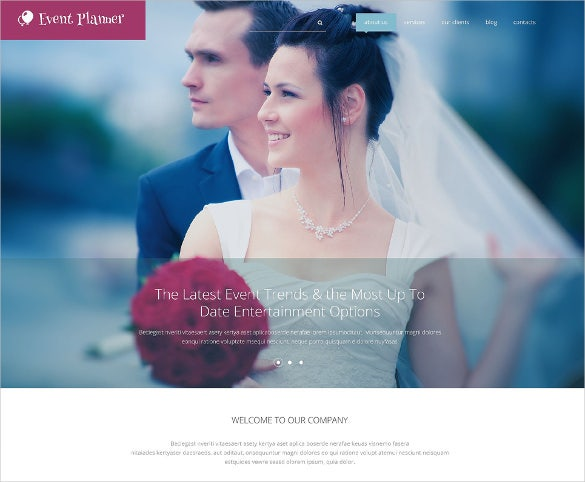 wedding event planner drupal blog theme