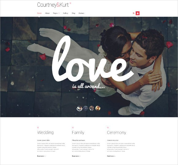 wedding responsive joomla blog template