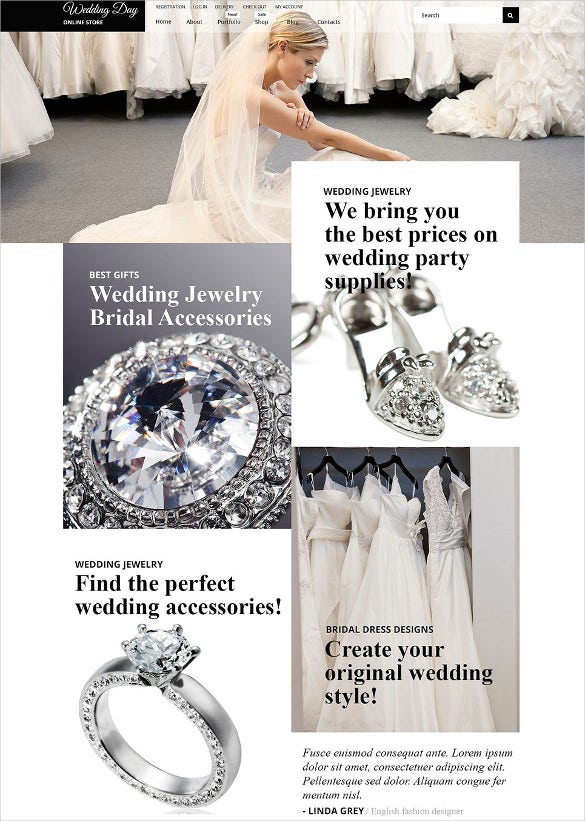 wedding stuff woocommerce blog template