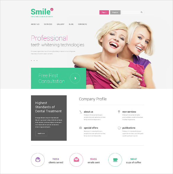 family dentistry drupal template
