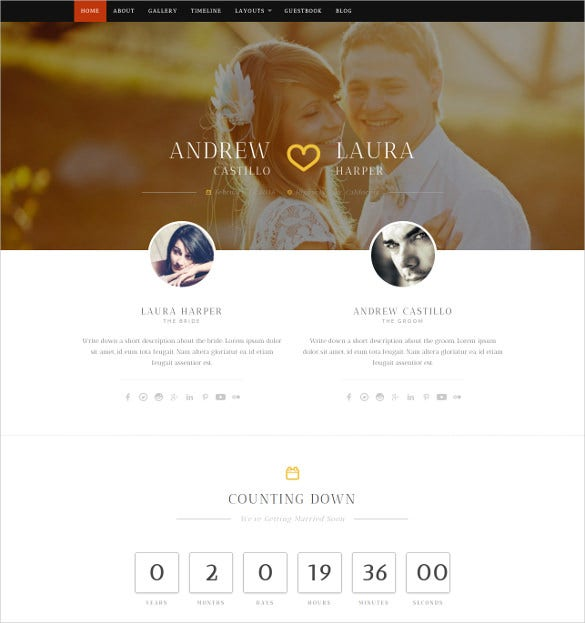 premium wedding wordpress theme