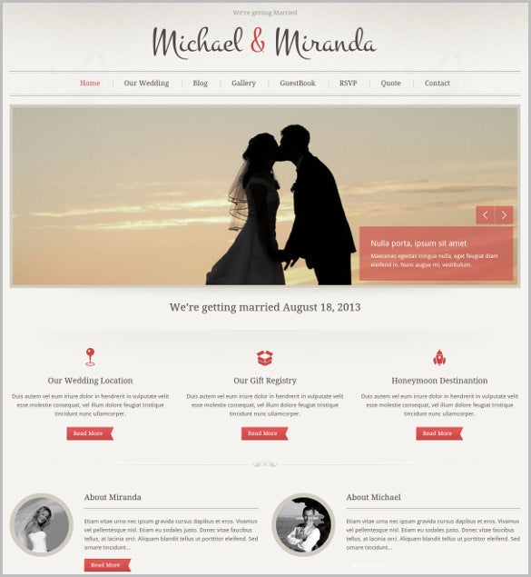 classic wedding wordpress blog theme