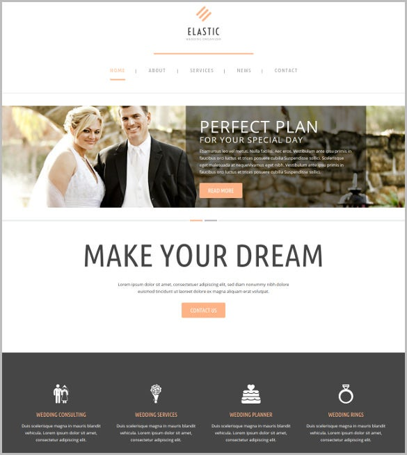 clean wedding wordpress blog template