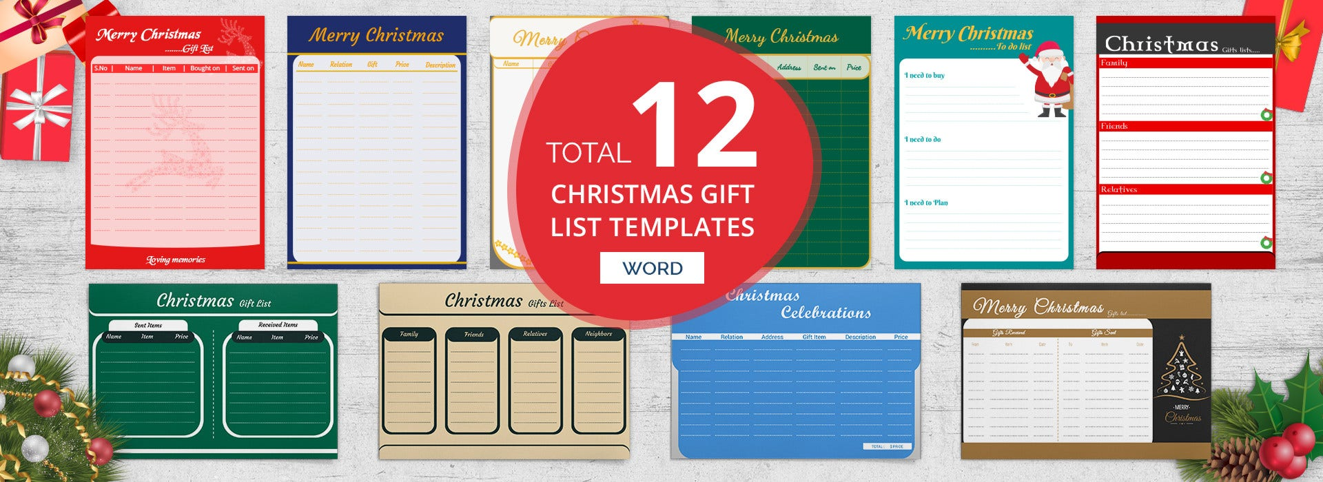 C45cba Secret Santa Wish List Template C Examples And Forms