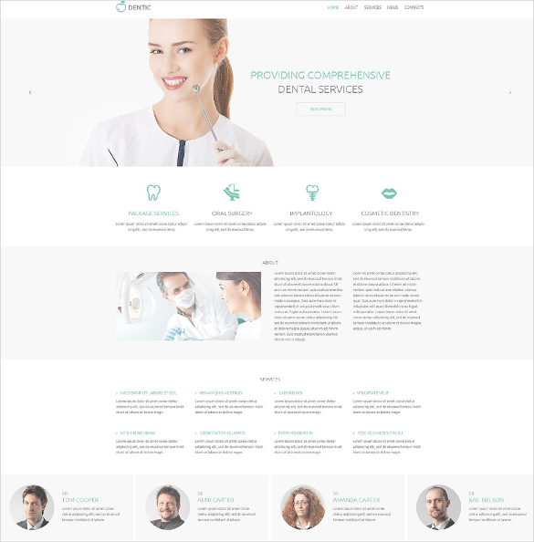 dentistry responsive html5 template