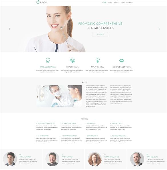 dentistry responsive html5 template