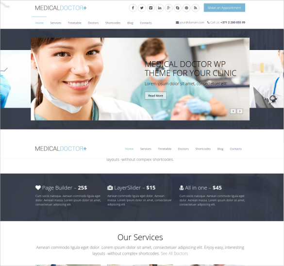 html5 theme for medical
