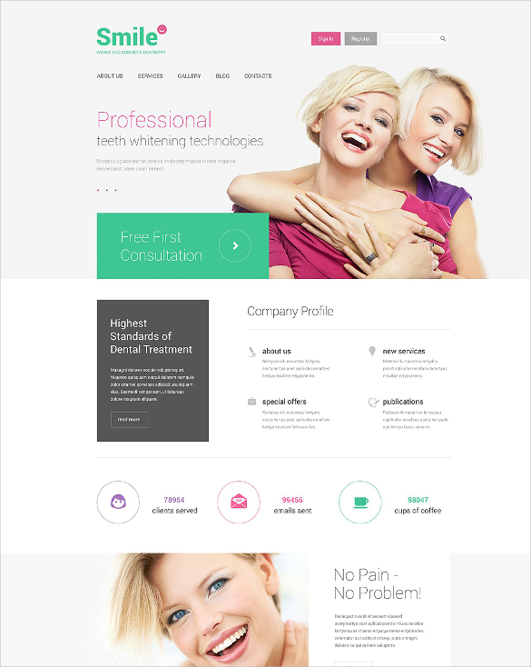 family dentistry medical html5 template