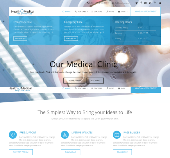 health medical html5 theme