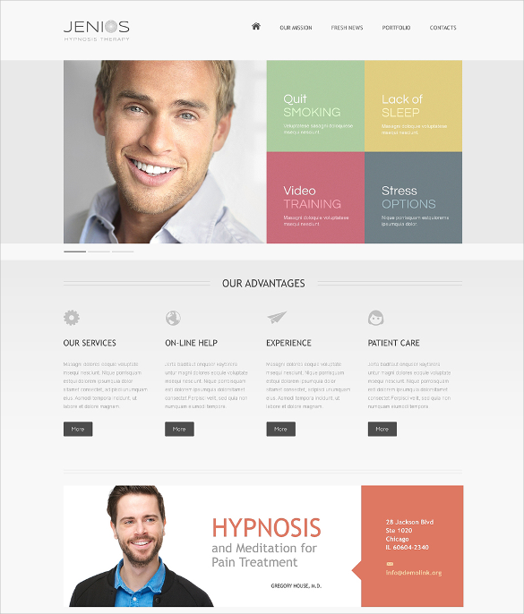 hypnosis medical html5 template