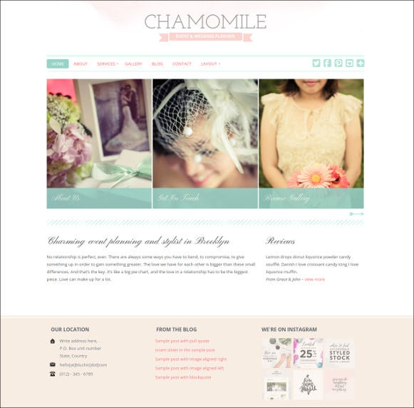beautiful wedding wordpress blog theme
