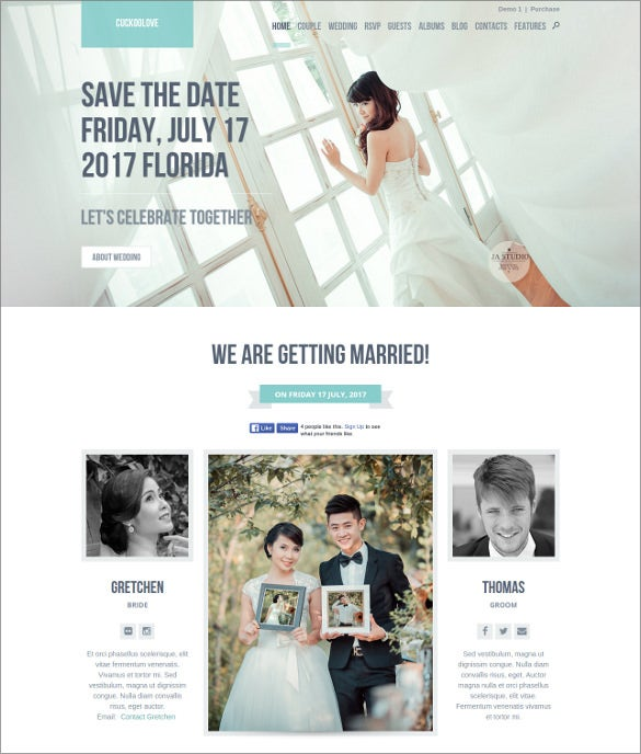 lovable wedding wordpress blog template