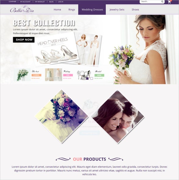 responsive magento wedding blog theme