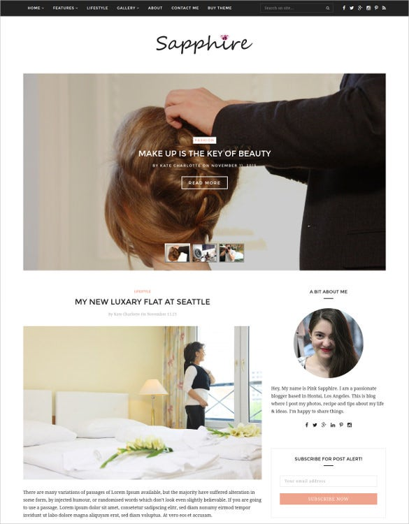 wedding beauty wordpress blog template