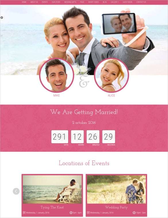 a responsive wordpress wedding blog theme