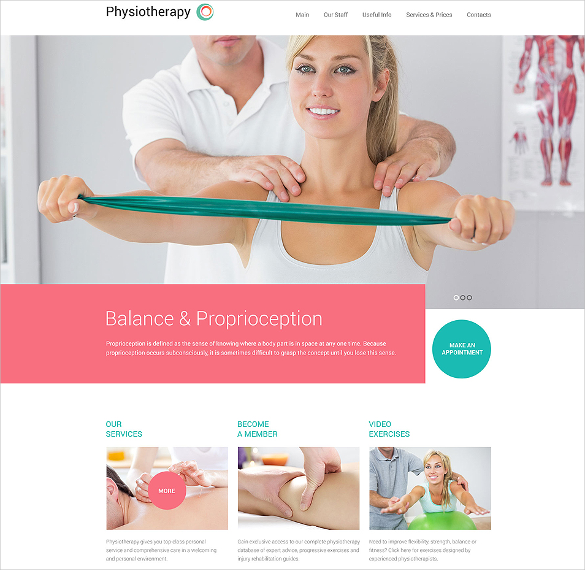 physiotherapy medical website template