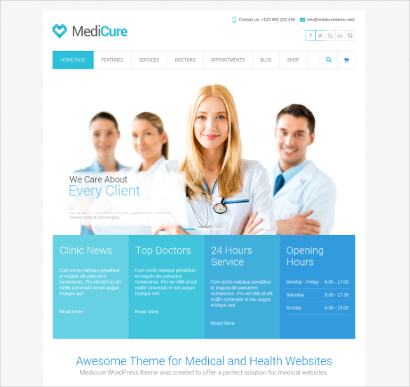 25+ medical website themes & templates | free & premium templates, Skeleton
