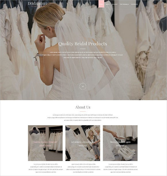 perfect wedding bride website html5 theme