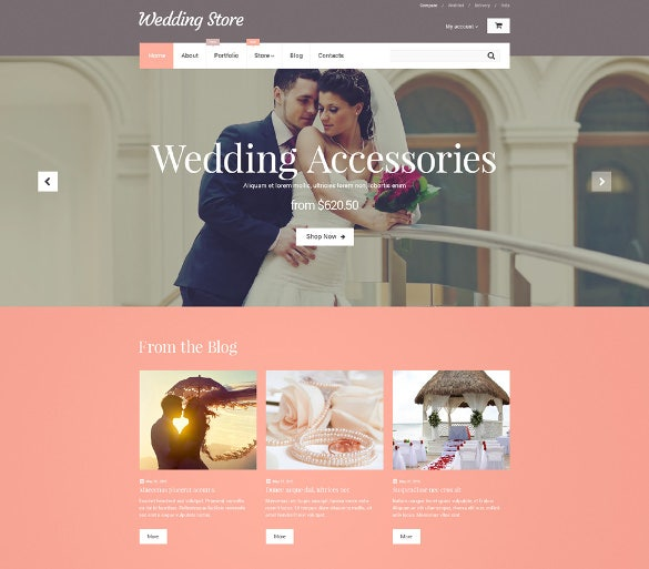 wedding store woocommerce html5 template