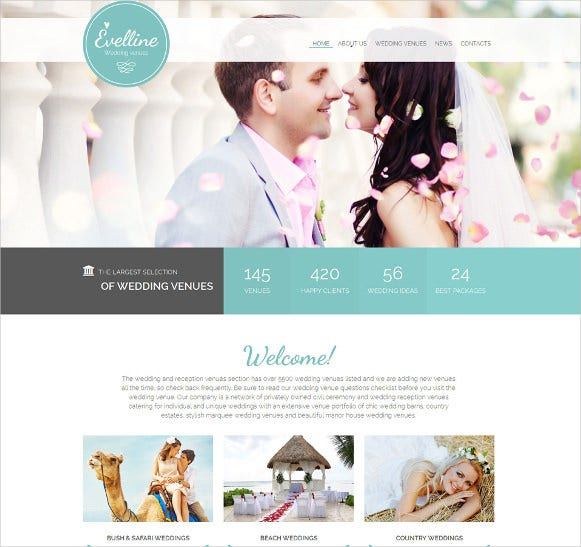 premium wedding html5 website template