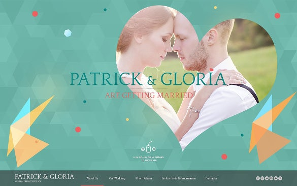 wedding album website html5 template