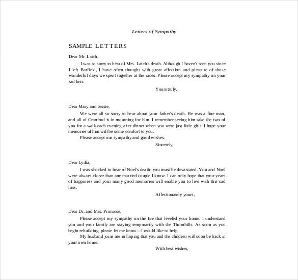 Sympathy Thank You Note Template 8 Free Word Excel PDF Format – Sympathy Thank You Notes