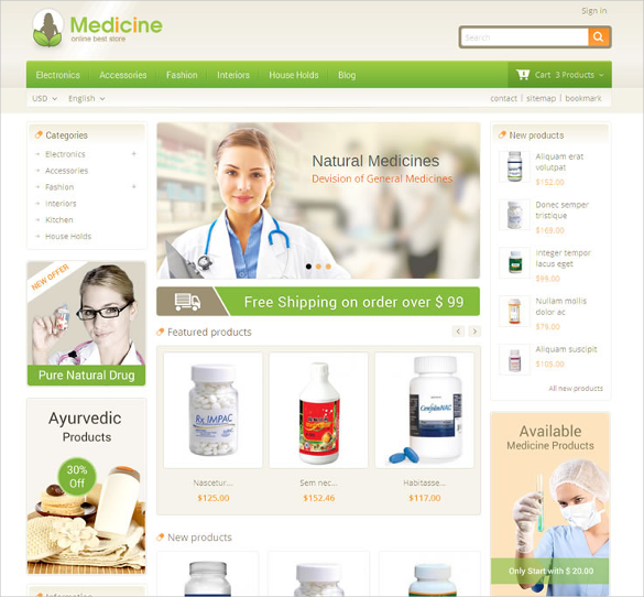 medicine pharmacy prestashop theme