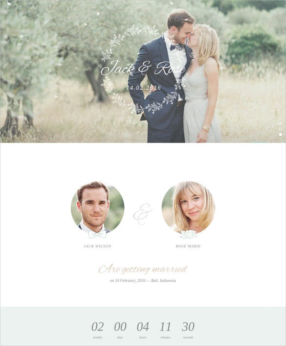whimsical wordpress wedding html5 theme