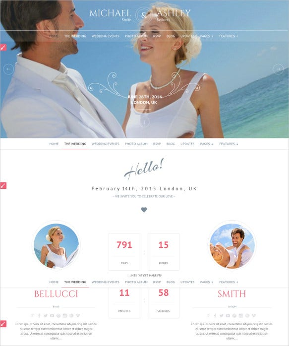 honeymoon wedding responsive html5 theme