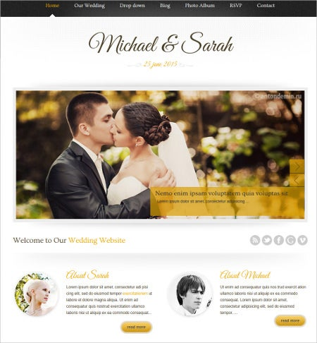 marriage responsive wedding wordpress theme