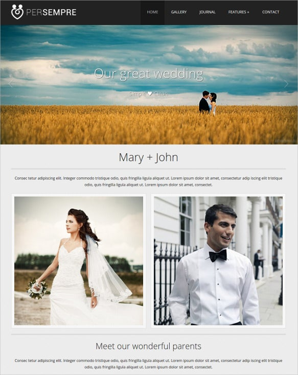 wedding minimal html5 template