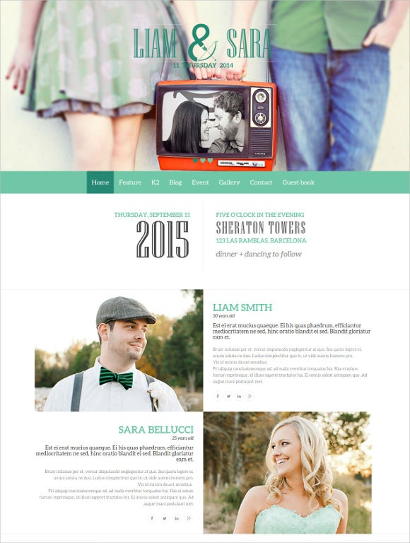 tasteful joomla wedding html5 template