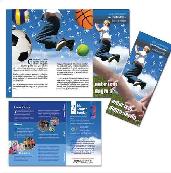 brochure basketball template free download