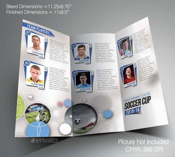 Basketball Brochure Templates Free PSD EPS Illustrator AI - Trifold brochure template psd