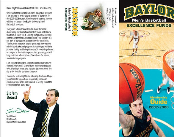 baylor excellence funds basket ball brochure download