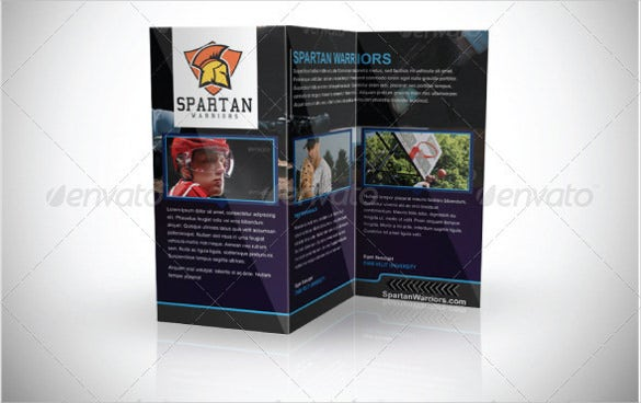 multi use sports brochure trifold template download psd